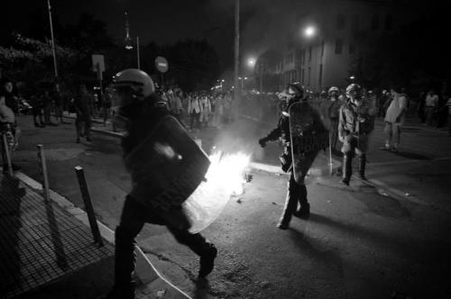 Olof Jarlbro Violent clashes between police and protesters in Thessaloniki Greece 12.jpg