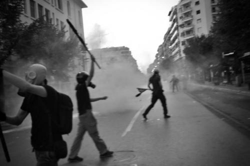 Olof Jarlbro Violent clashes between police and protesters in Thessaloniki Greece 7.jpg